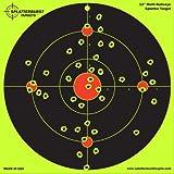 "25 Pack - 12"" Multi Bullseye Splatterburst Target - Instantly See Your Shots Burst Bright Florescent Yellow Upon Impact!"