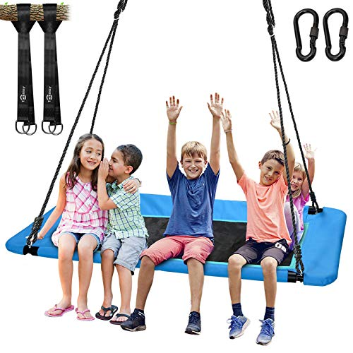 "Trekassy 700lb Giant 60"" Platform Tree Swing for Kids and Adults Waterproof with Durable Steel Frame and 2 Hanging Straps"