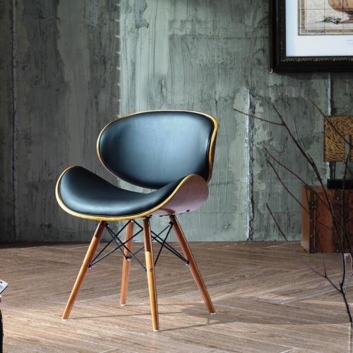 Esstisch-Stühle-Zimmer-Design-Leder