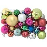 【四葉堂オリジナル】オーナメントボール 36個セット / クリスマス ツリー 飾り付け 玉 球 キラキラ 綺麗 パーティー
