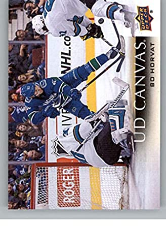 2018-19 Upper Deck Canvas Hockey Card  C79 Bo Horvat Vancouver Canucks  Official UD 5e64a7174