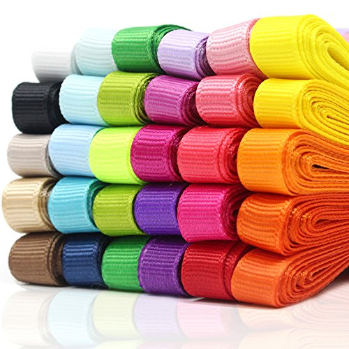 "JUSLIN 3/8"" Boutique Grosgrain Fabric Ribbons,for Gifts for sale  Delivered anywhere in USA"
