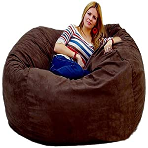 New Chocolate Bean Bag Chairs by Cozy Sack Factory Direct 5' Cozy Foam Filled Microfiber Cover