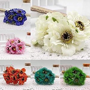 FidgetGear 1Pcs/Set Bouquet Artificial Silk Poppy Flower Bunch Boeket DIY Garden Home Decor 15