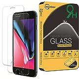 Jasinber [2-Pack] Mica de Vidrio Cristal Templado para iPhone 8 Plus / 7 Plus