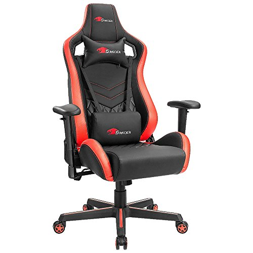 Homall Speed Series Racing Chair Ergonomic High-Back Gaming Chair Premium PU Leather Bucket Seat,Computer Swivel Lumbar Support Executive Office Chair (T-OCRC7601) Homall