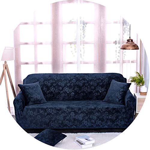 Sofa Cover for Couch Slipcover Case for Sofa Elastic Cover for Sofa,Navy Blue,Four Seat Sofa (Furniture Outdoor Rattan Philippines)
