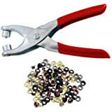 "100pc 5/32"" 4mm Brass Eyelets and Setting Pliers Kit - Shoes Belts Bags Leather Fabric VinylTaiwan"