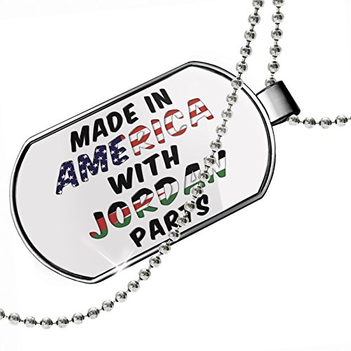 Dogtag Made in America with Parts from Jordan Dog tags necklace - Neonblond by NEONBLOND