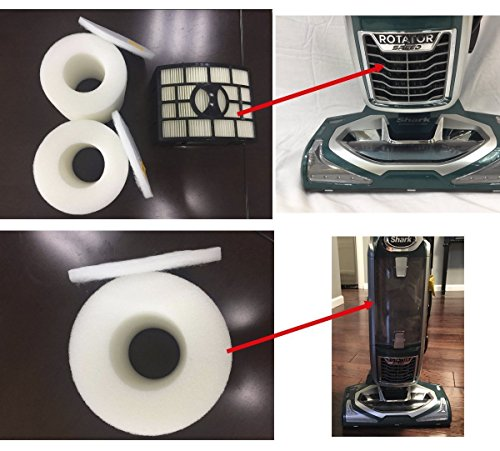 NV682,NV800 NV800W SOFTMATE NV680 Shark Replacement Filter Foam and HEPA Vacuum Cleaner Rotator Powered Lift-Away Speed parts For Shark NV680,NV683,NV681 NV801,UV810 Part Numbers XFF680 XHF680.