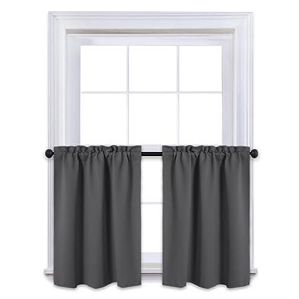 Amazon NICETOWN Kitchen Blackout Window Treatment Valances