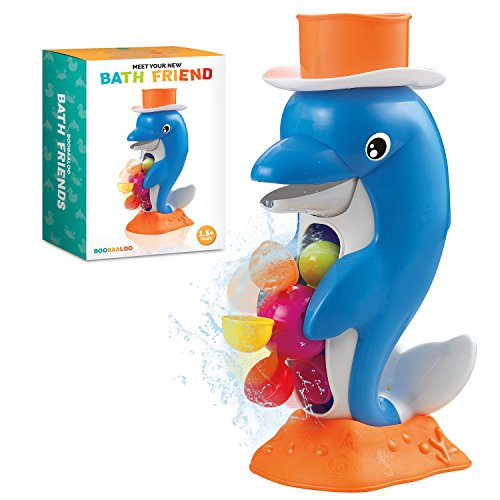 """Danny The Dolphin"" - Bath Friends Baby Bath Toys For Safe, Educational, Interactive and Developmental Bath Time Play For Toddlers and Infants - Made By BOOBAALOO"