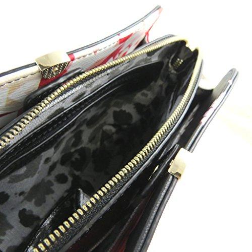 Bolsa de diseñador 'Christian Lacroix'negro rojo - 24x17x9 cm.