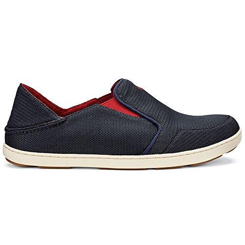 OLUKAI Nohea Mesh Shoe - Men's Carbon/Deep Red 9