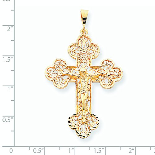 10 k or CRUCIFIX charme supérieure-Grade que JewelryWeb or 9 carats