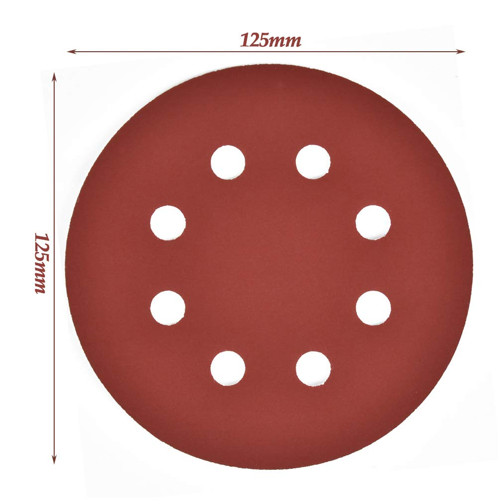TIMESETL Dischi Carta Abrasiva Dischi 8 fori per levigatrice orbitale