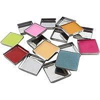 56pcs Empty Square Metal Pans for Eyeshadow Blusher Pressed Powder Makeup Cosmetics
