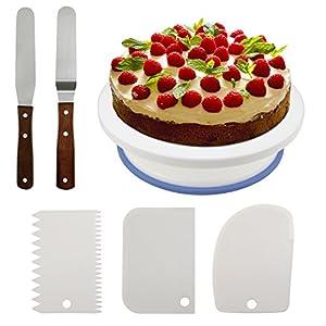 Philonext - Piatto per Torta, Professionale, Girevole, in plastica, Stile 1, da 27,4 cm 16