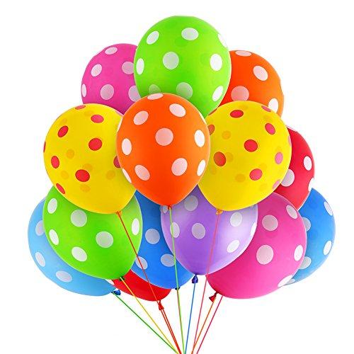 Decora 90Pcs Lot 12Inch Latex Inflatable Balloons Polka Dot Colored Wedding Birthday Party Balloons Decoration Globos Air Balls Balloons