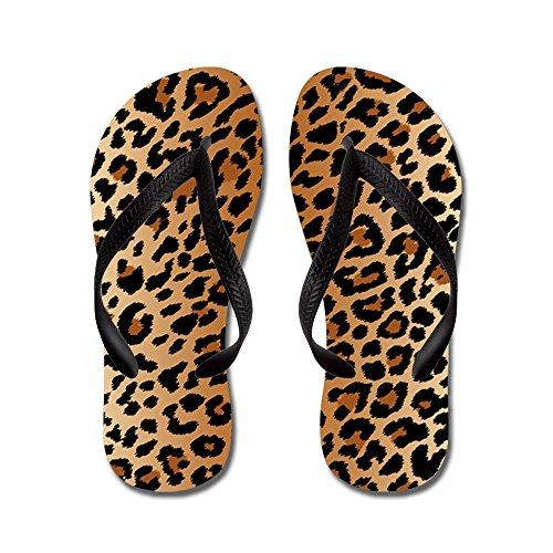 CafePress - Leopard Print - Flip Flops, Funny Thong Sandals, Beach - Sandal Thong Leopard Print
