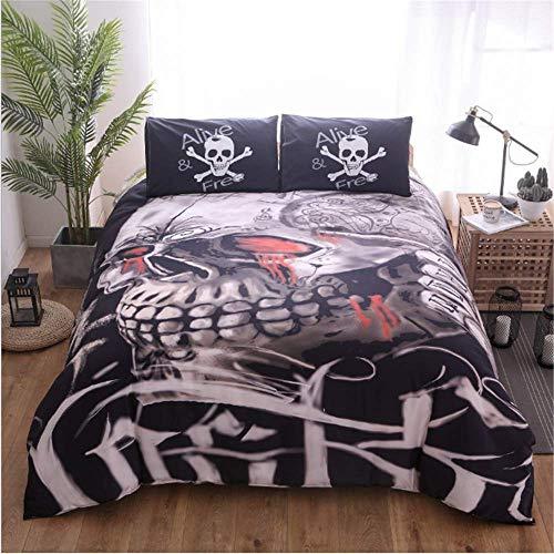 (SSHHJ Cotton Duvet Cover Queen King Size Style Bedding Set Fitted Sheet Set Pillow Shams E)