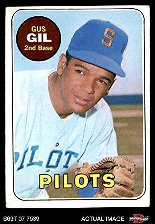 amazon com 1969 topps 651 gus gil seattle pilots baseball card