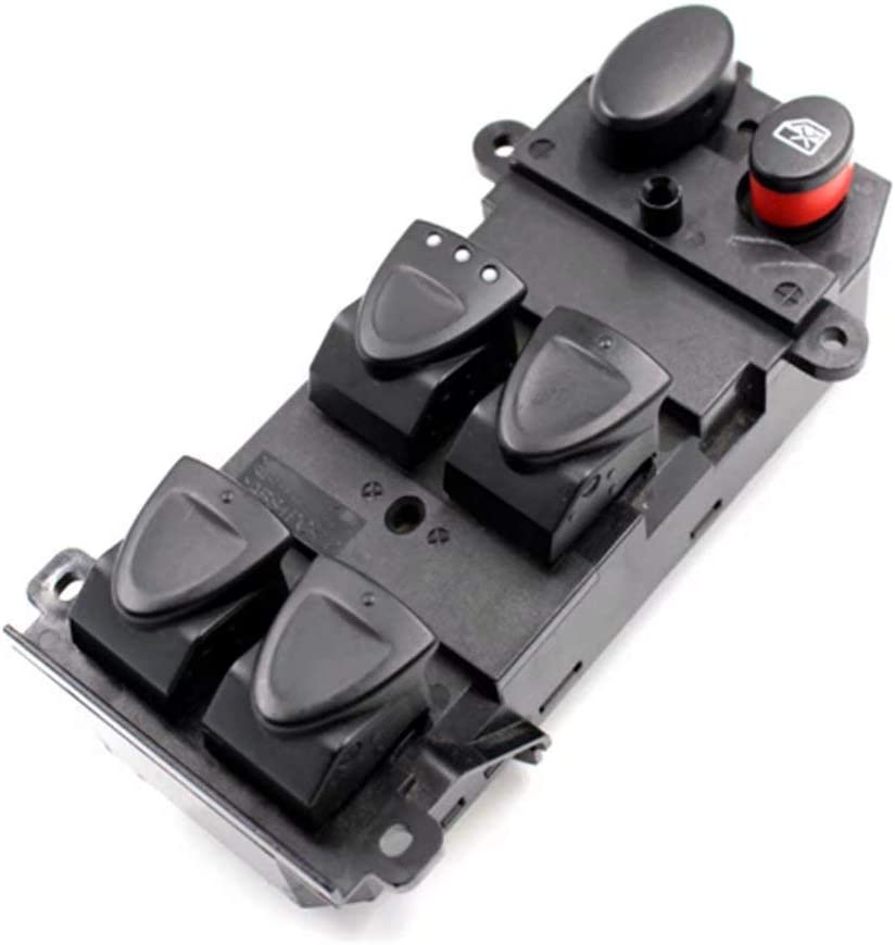 Power Window Master Switch Replace for Honda CR-V 2002-2006 Civic 2001-05 OE:35750-SAE-P03 35750-S5A-A02-ZA 35750S5AA02ZA Front Left Driver Side Power Control Switch Comes with a Removal Tool