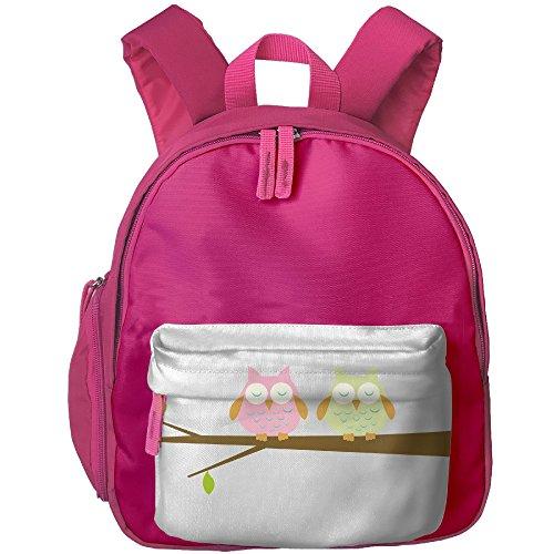 (Sleeping Owl On A Tree Lightweight Book Bag Cool Cartoon Animal Kid's School Daypack Soccer Girl Kindergarten Backpacks 12.5