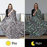Glow in The Dark Throw Blanket,Super Soft Warm Cozy