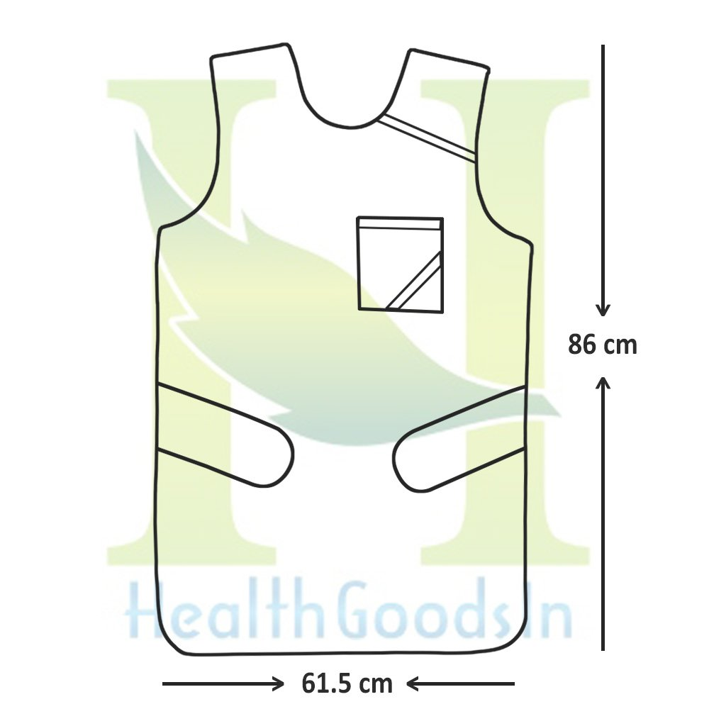 HealthGoodsIn - Lead Apron 0.5mm Lead (pb) Equivalency Protection for Working with X-Ray Machine with Robust Hanger