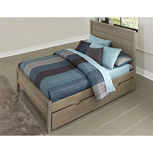 Alex Trundle Twin Bed - NE Kids Highlands Alex Full Panel Bed with Trundle in Driftwood
