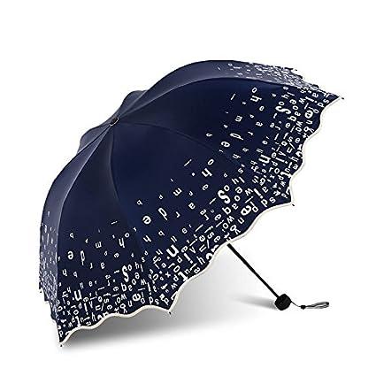 Ombrello pieghevole Paraguas Plegable automatico Mujer niño Hombre an- Paraguas Plegable Negro protección UV Pegamento