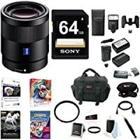 Sony 55mm F1.8 Sonnar T FE ZA Lens, HVLF32M Camera Flash Bundle Package