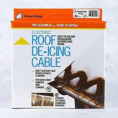 Frost King RC160 160 x 120 x 7' Automatic Electric Roof Cable Kits, Black
