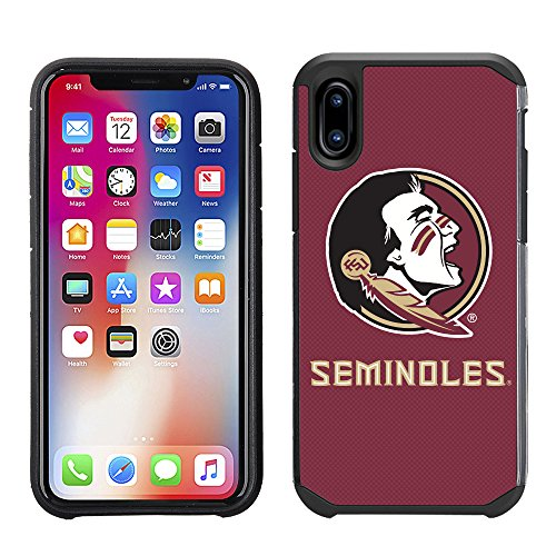 Prime Brands Group Textured Team Color Cell Phone Case for Apple iPhone X - NCAA Licensed Florida State University Seminoles