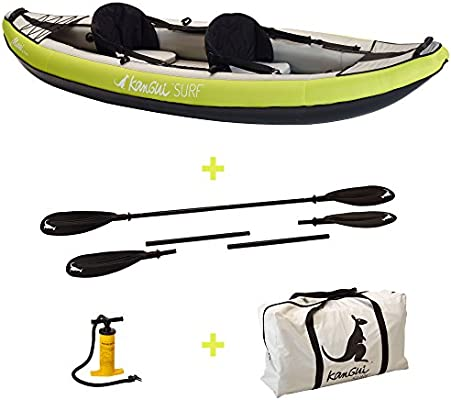 KANGUI canoa kayak hinchable Maui 1 de 2 plazas + paleta + ...