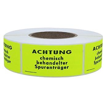 1000 EtikettenVORSICHT Spurentr/äger