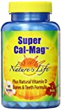 Nature's Life Cal Mag Tablets, Super, 1000/500 Mg, 100 Count