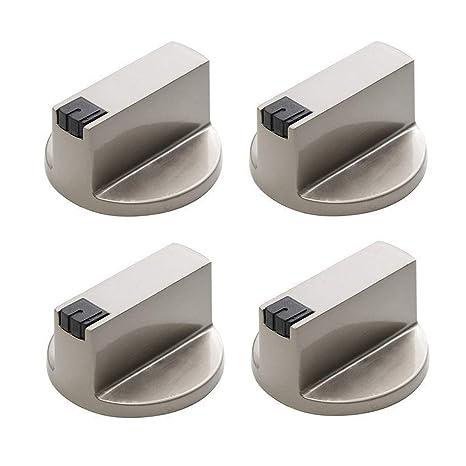 Metal 8mm Universal Silver Gas Adaptadores de Perillas de Control ...