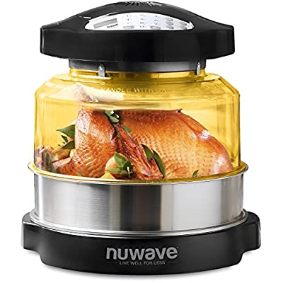 NuWave Pro Plus 20633 Digital Convection Countertop Convection Oven with Stainless Steel Extender Ring Kit