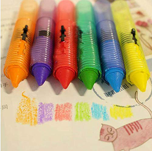 Little Story  Bathing Crayon, 6PC Baby Toddler Kids Washable Bath Crayons Bathtime Play Child Educational Toys ()