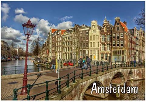 "ACRYLIC Fridge Magnet Holland Netherlands Amsterdam Locker  2x3/"" BUY 2 GET 1"