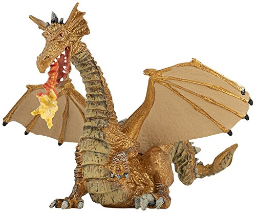 Multicolor 39095 Papo Gold Dragon with Flame Figure