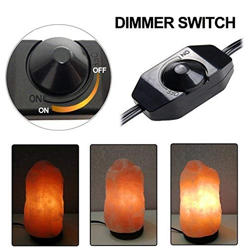 By JIC Gem 2 set of Salt Lamp Dimmer Switch Cord with 6 Bulbs
