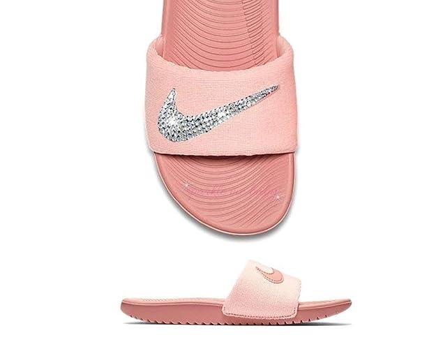 Amazon.com  Nike Slide Women s Rust Pink ~NEW~ Blinged ~ Swarovski ... eafa6951e