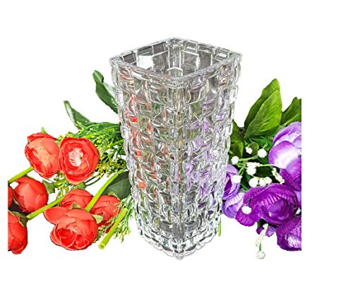 Glass Flower Vase Pot Pure Source India for Living Home Décor Gifts