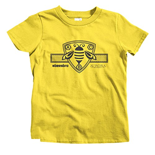 Smash Transit x Aurora Bee Co. Kids Crest and Comb Horizontal Bee T-Shirt - Yellow, Youth -