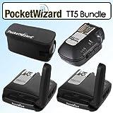 Pocket Wizard Bundle With Flex Transceivers TT5 -801150, Mini TT1 Transmitter -801140 & G-Wiz Trunk Bag -804712 For Canon DSLR Cameras