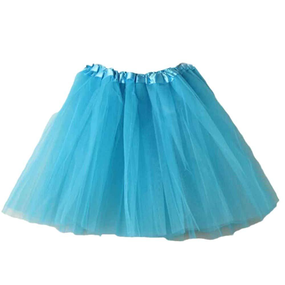 NUWFOR Women's Tutu Tulle Petticoat Ballet Bubble Skirts Short Prom Dress up?Sky Blue?One Size?