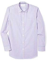 Men's Slim-Fit Wrinkle-Resistant Long-Sleeve Dress Shirt